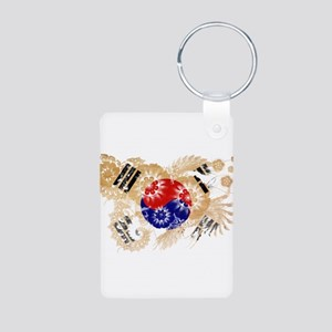 South Korea Flag Aluminum Photo Keychain