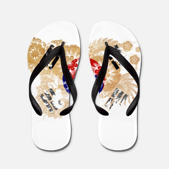 South Korea Flag Flip Flops