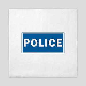 Police Theme Queen Duvet