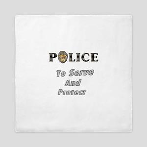 Police Service Queen Duvet