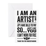 Artist Greeting Cards (Pk of 20)