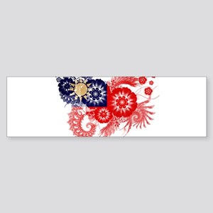 Taiwan Flag Sticker (Bumper)