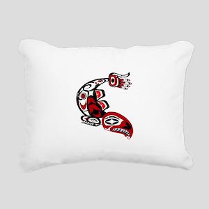 IN THE RUN Rectangular Canvas Pillow