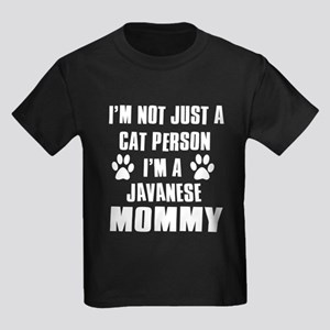 Javanese Cat Design Kids Dark T-Shirt