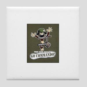 Commando! Tile Coaster