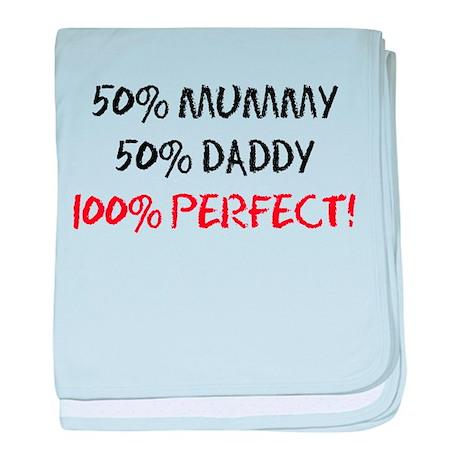 Fifty Percent Mummy baby blanket
