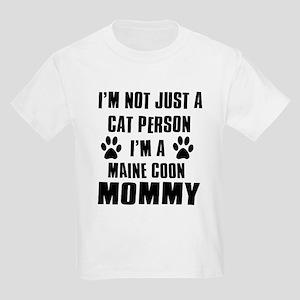 Maine Coon Cat Design Kids Light T-Shirt