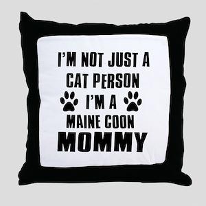 Maine Coon Cat Design Throw Pillow