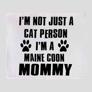 Maine Coon Cat Design Throw Blanket