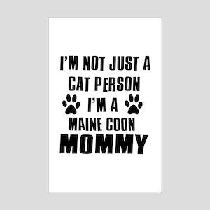 Maine Coon Cat Design Mini Poster Print
