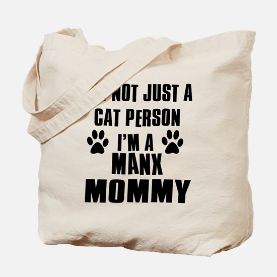 Manx Cat Design Tote Bag
