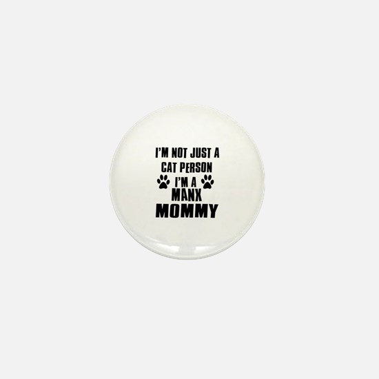 Manx Cat Design Mini Button
