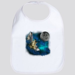 Northern Lights Wolfs Family Moon Bib