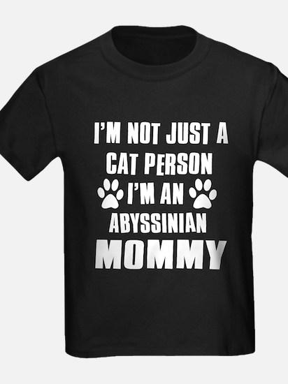 Abyssinian Cat Design T