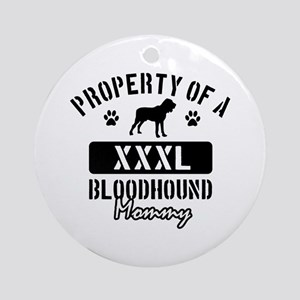 Bloodhound Mommy Ornament (Round)