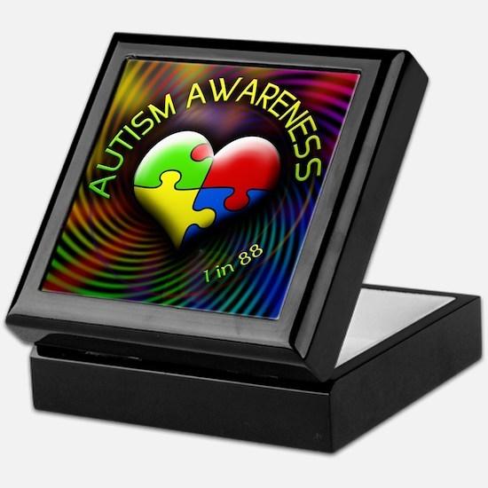 Autism Awareness - 1 in 88 Keepsake Box