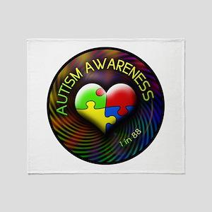 Autism Awareness - 1 in 88 Throw Blanket