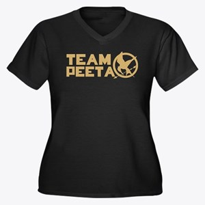Team Peeta and Love Changed t Women's Plus Size V-