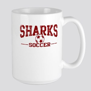 Sharks Soccer Large Mug