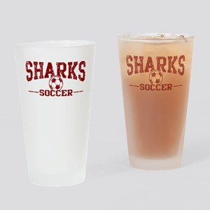 Sharks Soccer Drinking Glass