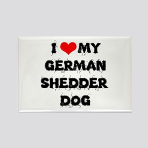 German Shepherd Dog Rectangle Magnet