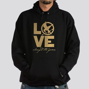 love and real or not real Hoodie (dark)
