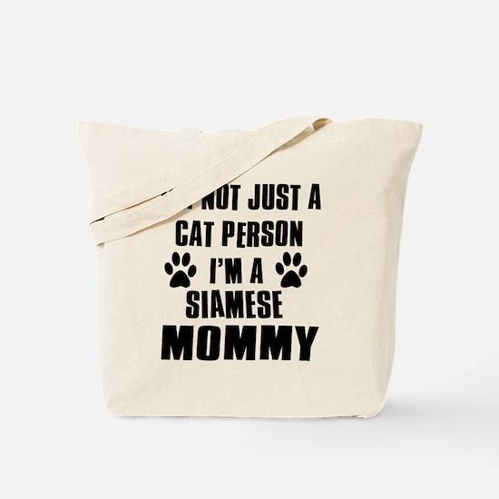 Siamese Cat Design Tote Bag