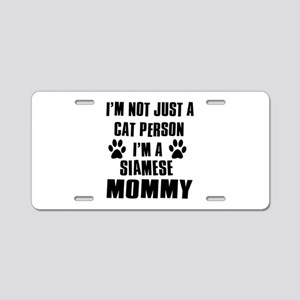 Siamese Cat Design Aluminum License Plate