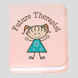 Future Therapist Girl baby blanket
