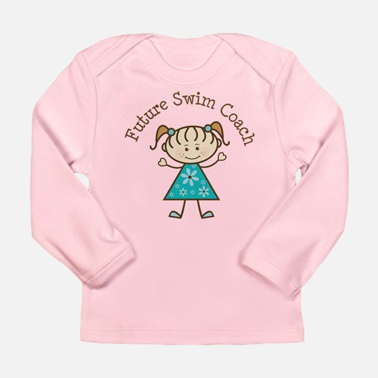 Future Swim Coach Girl Long Sleeve Infant T-Shirt