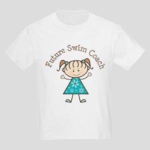 Future Swim Coach Girl Kids Light T-Shirt