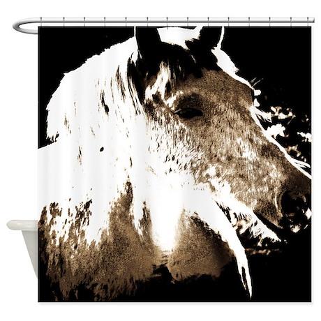 Pale Horse Shower Curtain
