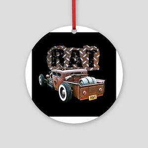 Rat Rod Truck Ornament (Round)