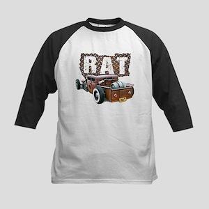 Rat Rod Truck Kids Baseball Jersey