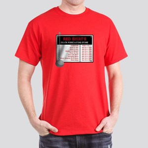 Red Shirt's Death Forecasting Dark T-Shirt