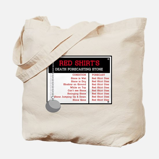 Red Shirt's Death Forecasting Tote Bag