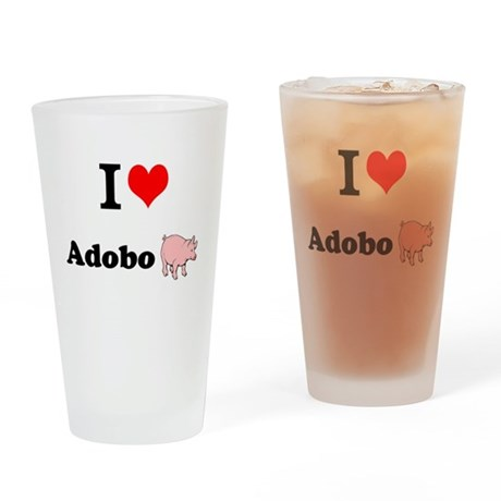 I luv Adobo - Drinking Glass