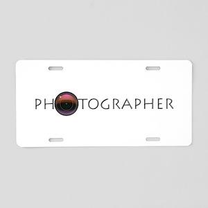 PHOTOGRAPHER-LENS-GREY- Aluminum License Plate