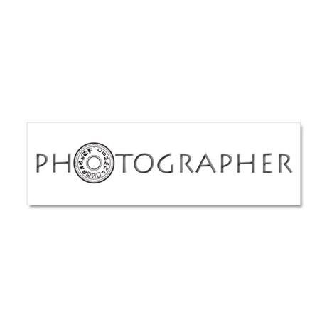 PHOTOGRAPHER-DIAL-GREY- Car Magnet 10 x 3
