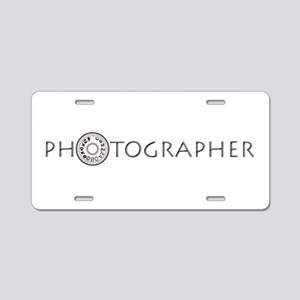 PHOTOGRAPHER-DIAL-GREY- Aluminum License Plate