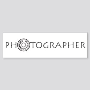PHOTOGRAPHER-DIAL-GREY- Sticker (Bumper)