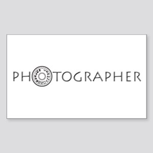 PHOTOGRAPHER-DIAL-GREY- Sticker (Rectangle)