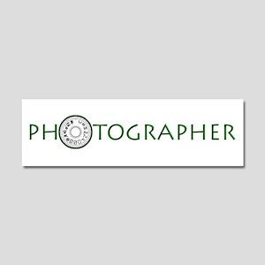PHOTOGRAPHER-DIAL-GREEN- Car Magnet 10 x 3