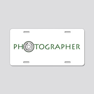 PHOTOGRAPHER-DIAL-GREEN- Aluminum License Plate