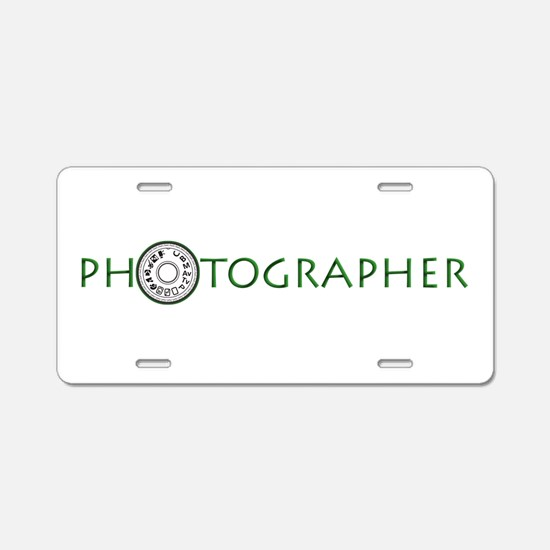 PHOTOGRAPHER-DIAL-GREEN- Aluminum License Plate