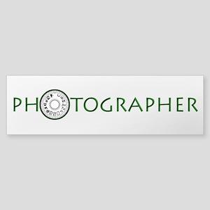 PHOTOGRAPHER-DIAL-GREEN- Sticker (Bumper)
