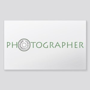 PHOTOGRAPHER-DIAL-GREEN- Sticker (Rectangle)