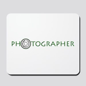 PHOTOGRAPHER-DIAL-GREEN- Mousepad