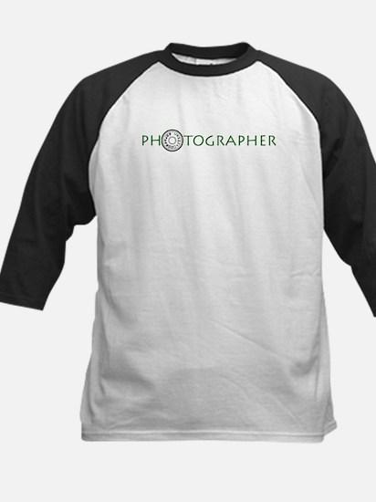 PHOTOGRAPHER-DIAL-GREEN- Kids Baseball Jersey