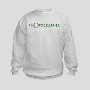 PHOTOGRAPHER-DIAL-GREEN- Kids Sweatshirt